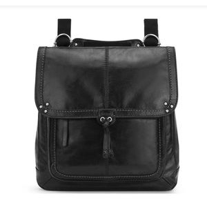 The Sak Ventura Convertible Backpack Black Leather